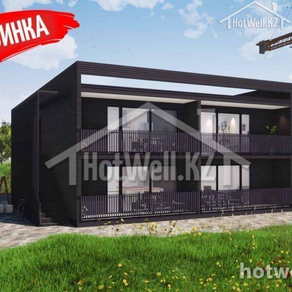 4 квартирный дом из сип панелей