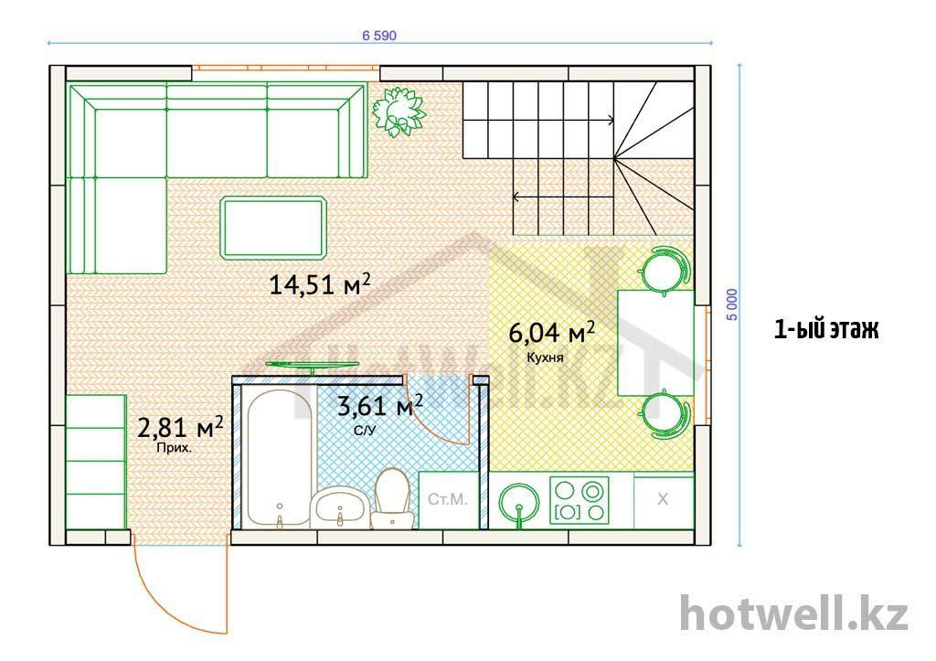Построить дом недорого Алматы У-66