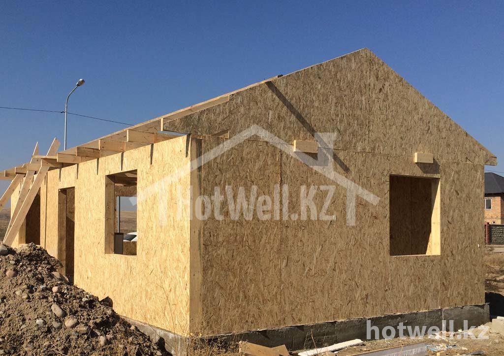 Строительство из СИП панелей 56м2 Алматы