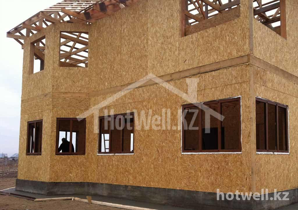 Построить дом из сип недорого Алматы 240м2