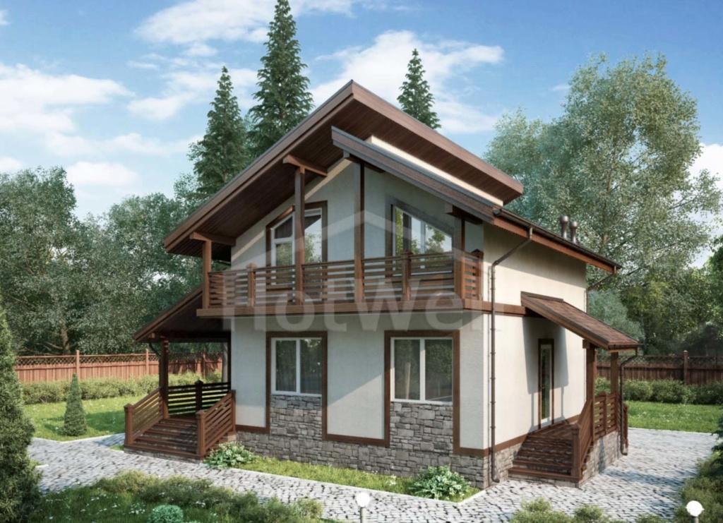 Проекты домов из СИП панелей в Алматы от 100 до 150м2