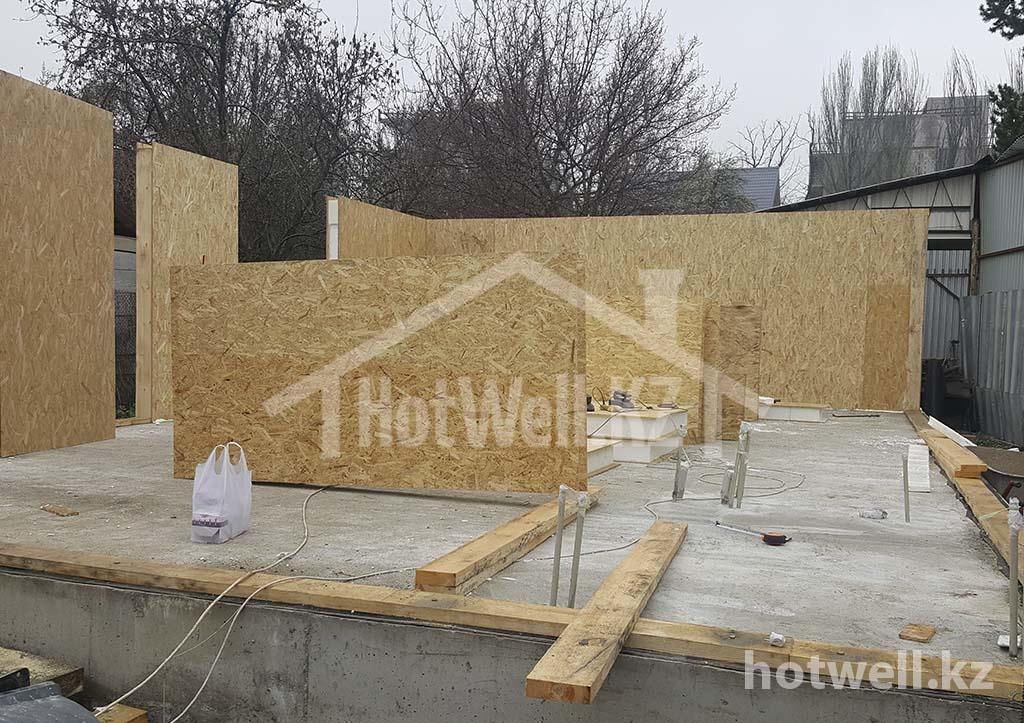 Г-71 Фотоотчет строительства дома из СИП панелей