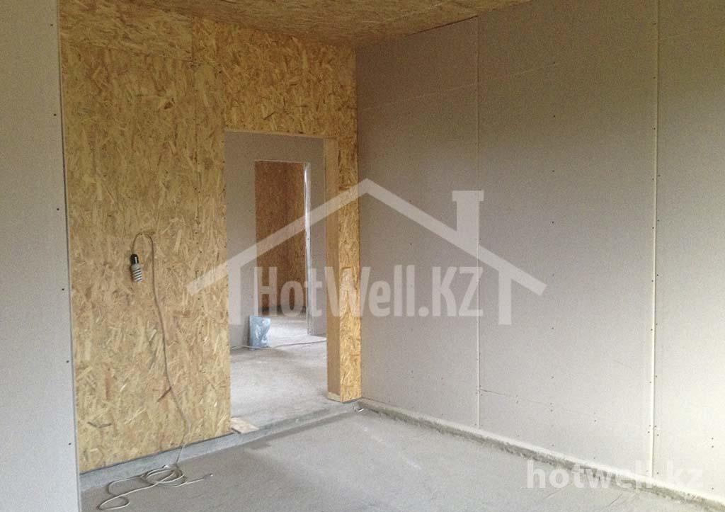 А-214 Этапы строительства дома из СИП панелей Алматы