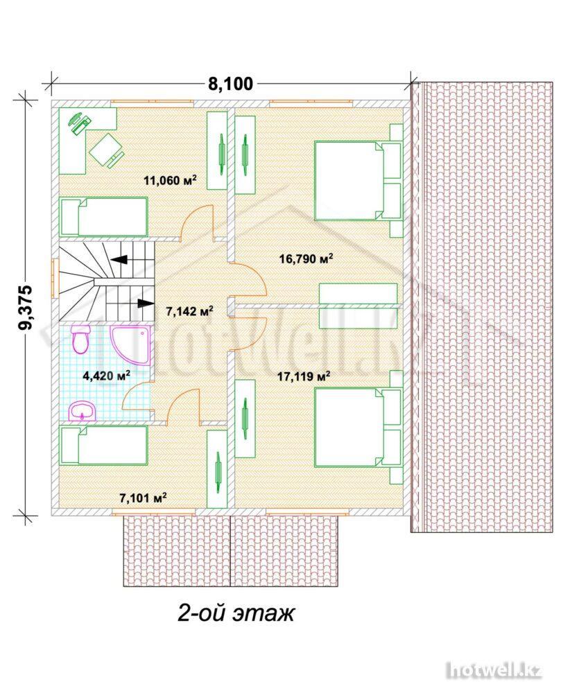 А-183 Дома из СИП панелей в Алматы