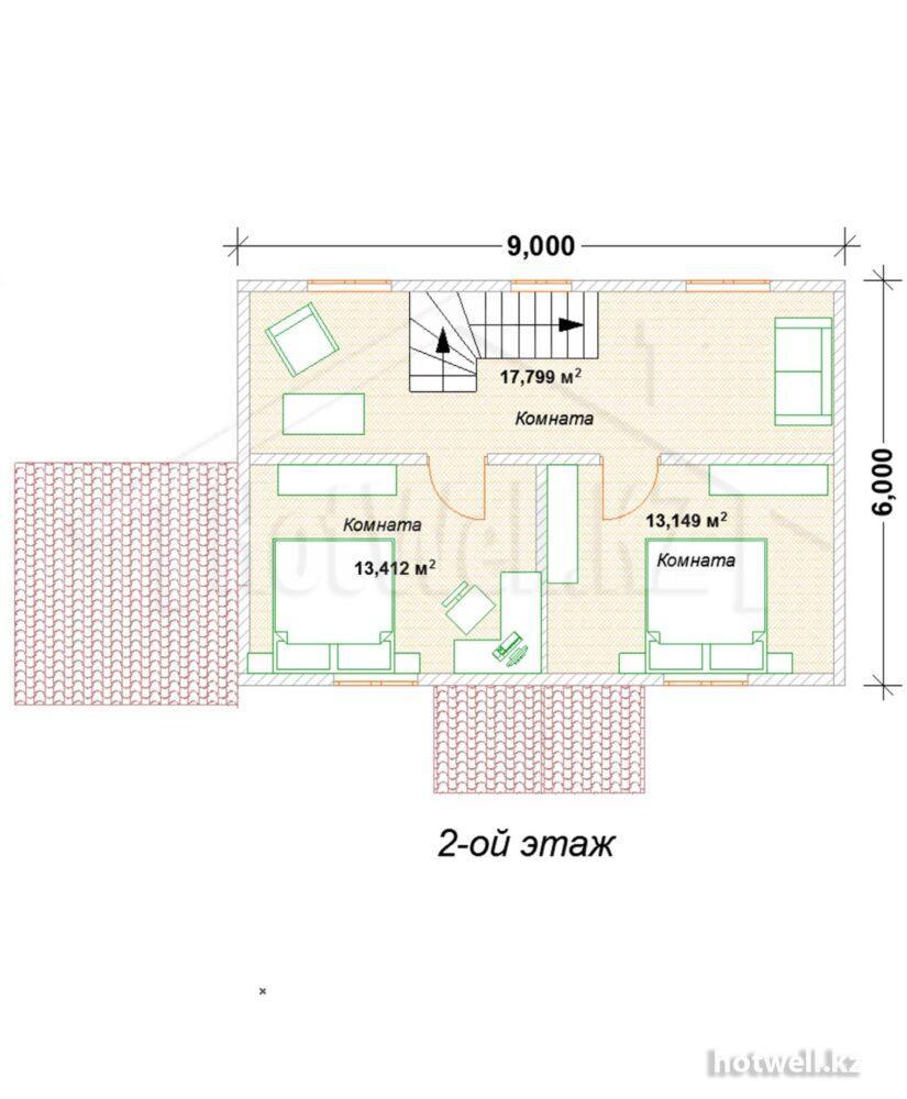 Дачный домик из СИП панелей купить