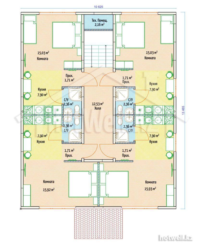 Б-286 Многоквартирный дом из СИП панелей