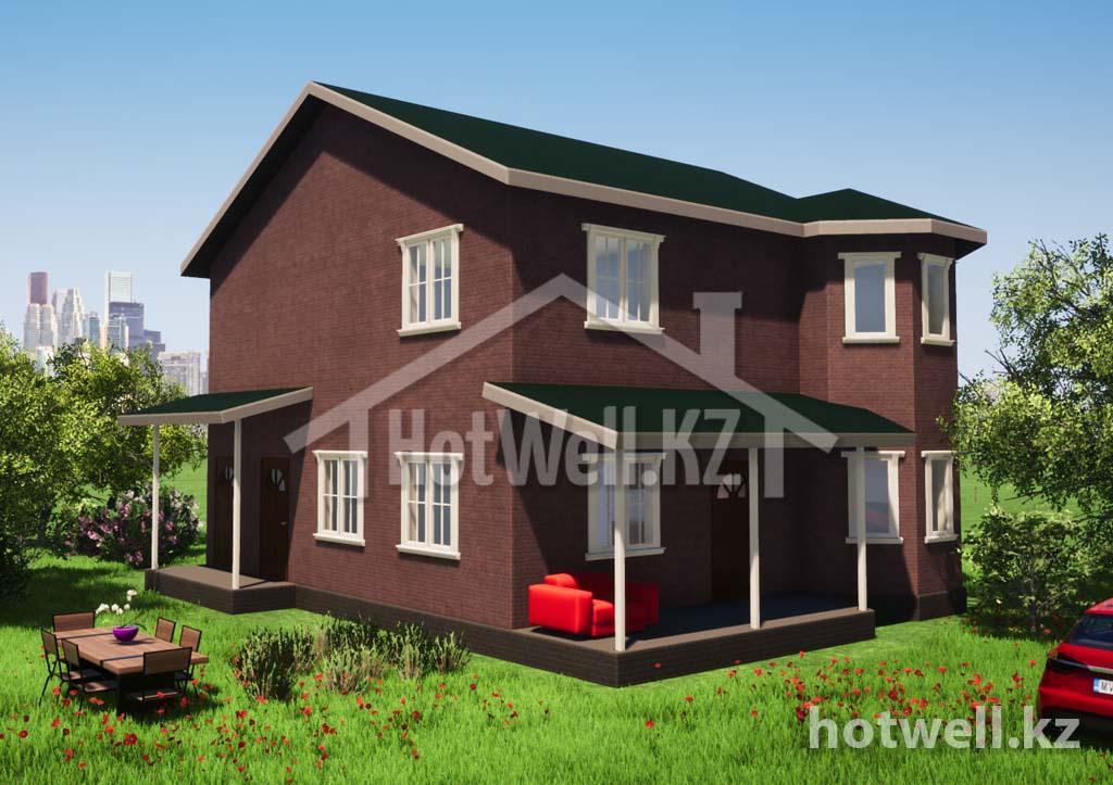 Б-185 Дом из СИП панелей Алматы