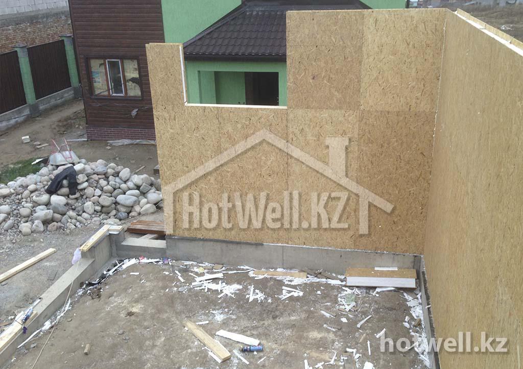 строим гараж из сип панелей в алматы