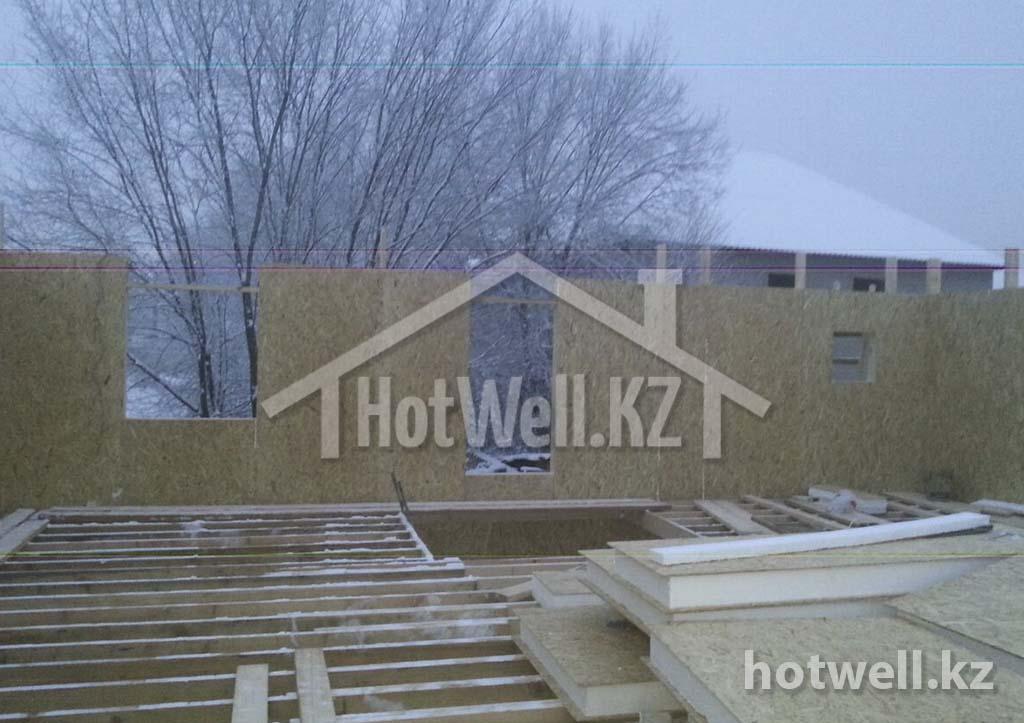строим дом из СИП панелей зимой